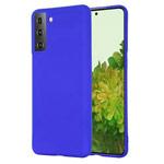 Чехол Yotrix LiquidSilicone для Samsung Galaxy S21 (синий, гелевый)