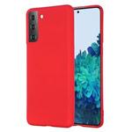Чехол Yotrix LiquidSilicone для Samsung Galaxy S21 (красный, гелевый)