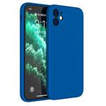Чехол Yotrix LiquidSilicone Pro для Apple iPhone 12 (синий, гелевый)