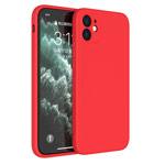Чехол Yotrix LiquidSilicone Pro для Apple iPhone 12 (красный, гелевый)