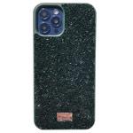 Чехол Swarovski Crystal Case для Apple iPhone 12/12 pro (зеленый, гелевый)