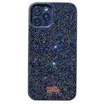 Чехол Swarovski Crystal Case для Apple iPhone 12/12 pro (синий, гелевый)