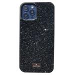 Чехол Swarovski Crystal Case для Apple iPhone 12/12 pro (черный, гелевый)