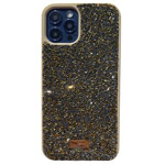 Чехол Swarovski Crystal Case для Apple iPhone 12 pro max (золотистый, гелевый)