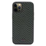 Чехол Kajsa Genuine Leather Pearl Pattern для Apple iPhone 12/12 pro (зеленый, кожаный)
