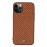 Чехол Kajsa Genuine Leather Pearl Pattern для Apple iPhone 12/12 pro (коричневый, кожаный)