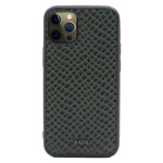 Чехол Kajsa Genuine Leather Pearl Pattern для Apple iPhone 12 pro max (зеленый, кожаный)