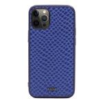 Чехол Kajsa Genuine Leather Pearl Pattern для Apple iPhone 12 pro max (синий, кожаный)