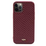 Чехол Kajsa Genuine Leather Pearl Pattern для Apple iPhone 12 pro max (бордовый, кожаный)
