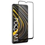 Защитное стекло Yotrix 3D Pro Glass Protector для Xiaomi Poco M3 (черное)