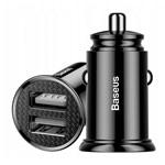 Зарядное устройство Baseus Dual QC Car Charger универсальное (автомобильное, 30W, 2 x USB, черное)