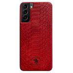 Чехол Santa Barbara Knight для Samsung Galaxy S21 (красный, кожаный)