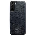 Чехол Santa Barbara Knight для Samsung Galaxy S21 (черный, кожаный)