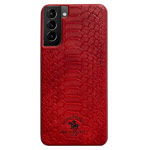 Чехол Santa Barbara Knight для Samsung Galaxy S21 plus (красный, кожаный)