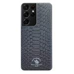 Чехол Santa Barbara Knight для Samsung Galaxy S21 ultra (черный, кожаный)