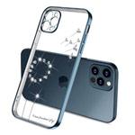 Чехол Coblue Crystal Plating Case для Apple iPhone 12 pro max (темно-синий, гелевый)