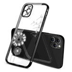 Чехол Coblue Crystal Plating Case для Apple iPhone 12 pro max (черный, гелевый)