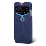 Чехол Nextouch InTheAir Opera case для Samsung Galaxy S4 i9500 (темно-синий, кожанный)