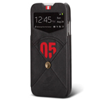 Чехол Nextouch InTheAir Code case для Samsung Galaxy S4 i9500 (темно-серый, кожанный)