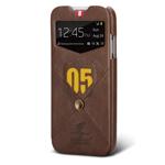 Чехол Nextouch InTheAir Code case для Samsung Galaxy S4 i9500 (темно-коричневый, кожанный)