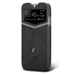 Чехол Nextouch InTheAir Sharp case для Samsung Galaxy S4 i9500 (темно-серый, кожанный)