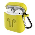 Чехол Synapse Buckle2 Case для Apple AirPods 1/2 (желтый, силиконовый)