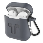 Чехол Synapse Buckle2 Case для Apple AirPods 1/2 (серый, силиконовый)