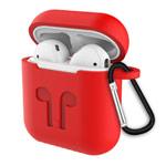 Чехол Synapse Buckle2 Case для Apple AirPods 1/2 (красный, силиконовый)