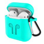 Чехол Synapse Buckle2 Case для Apple AirPods 1/2 (бирюзовый, силиконовый)