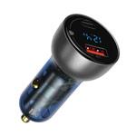 Зарядное устройство Baseus Dual QC+PPS Quick Charger универсальное (автомобильное, 65W, USB, USB-C, черное)