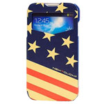 Чехол Nextouch MyFlag case для Samsung Galaxy S4 i9500 (USA, кожанный)
