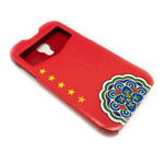 Чехол Nextouch MyFlag case для Samsung Galaxy S4 i9500 (China, кожанный)