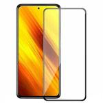Защитное стекло Yotrix 3D Shockproof Glass Protector для Xiaomi Poco X3 (черное)