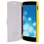 Чехол Nillkin Fresh Series Leather case для LG Google Nexus 5 (желтый, кожанный)