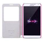 Чехол Nillkin Magic Leather case для Samsung Galaxy Note 3 N9000 (розовый, адаптер QI, кожанный)