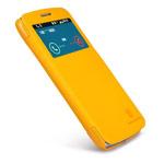 Чехол Nillkin Fresh Series Leather case для Samsung Galaxy Grand 2 G7106 (желтый, кожаный)