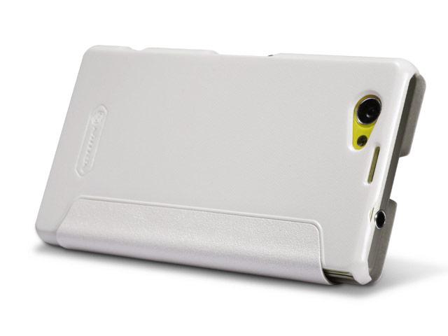 Чехол Nillkin Sparkle Leather Case для Sony Xperia Z1 compact M51W (белый, кожаный)