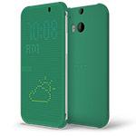Чехол HTC Dot View для HTC new One (HTC M8) (зеленый, пластиковый)