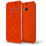 Чехол HTC Dot View для HTC new One (HTC M8) (оранжевый, пластиковый)