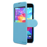 Чехол Nillkin Fresh Series Leather case для Samsung Galaxy S5 SM-G900 (голубой, кожаный)