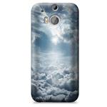 Чехол Yotrix ArtCase для HTC new One (HTC M8) (рисунок Облака, пластиковый)