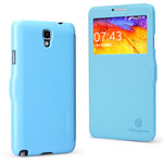 Чехол Nillkin Fresh Series Leather case для Samsung Galaxy Note 3 Neo N7505 (голубой, кожаный)