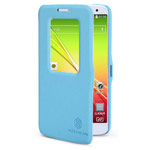 Чехол Nillkin Fresh Series Leather case для LG G2 mini D618 (голубой, кожаный)