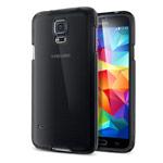Чехол Yotrix DotCase для Samsung Galaxy S5 SM-G900 (серый полупрозрачный, пластиковый)