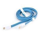 USB-кабель Vojo Trim универсальный (синий, 1.2 метра, microUSB, магнитный)
