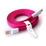 USB-кабель Vojo Trim универсальный (розовый, 1.2 метра, microUSB, магнитный)