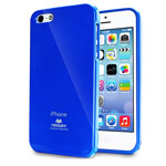 Чехол Mercury Goospery Jelly Case для Apple iPhone 5/5S (синий, гелевый)