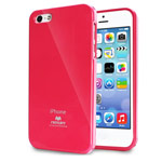 Чехол Mercury Goospery Jelly Case для Apple iPhone 5/5S (малиновый, гелевый)
