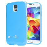 Чехол Mercury Goospery Jelly Case для Samsung Galaxy S5 SM-G900 (голубой, гелевый)