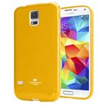Чехол Mercury Goospery Jelly Case для Samsung Galaxy S5 SM-G900 (желтый, гелевый)